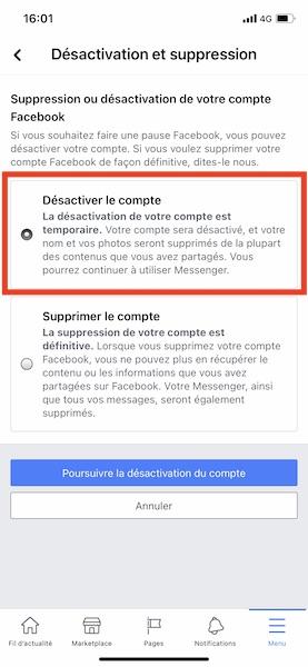 Comment désactiver un compte Facebook ?