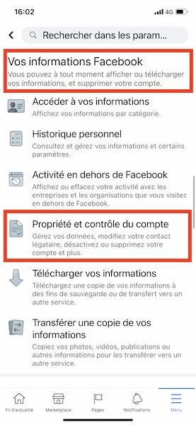Supprimer facebook sur téléphone 2