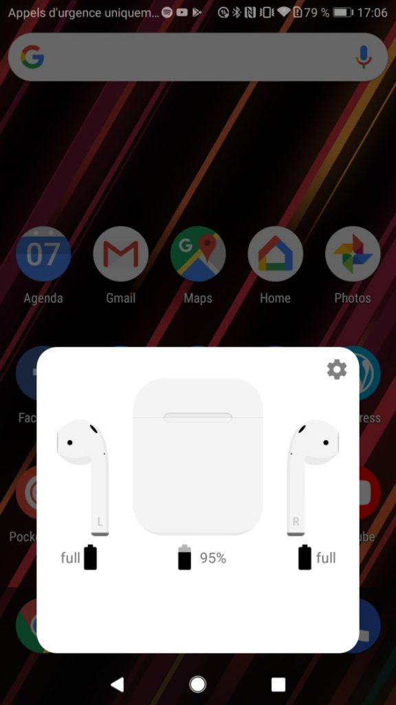 airbattery app gestion batterie airpods