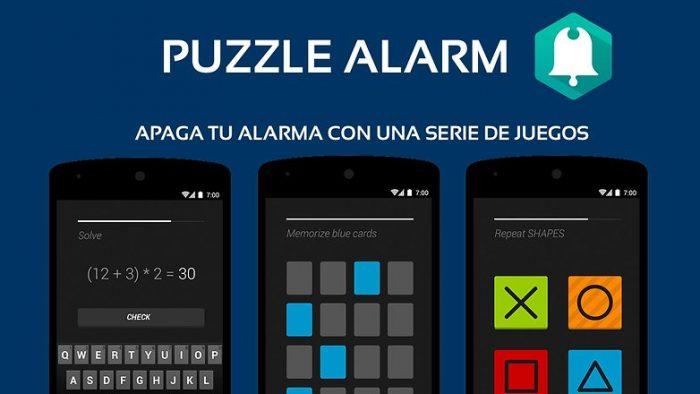 application réveil puzzle