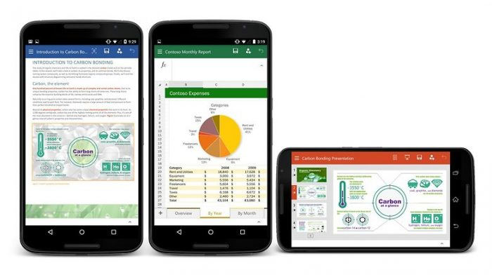 excel powerpoint word android
