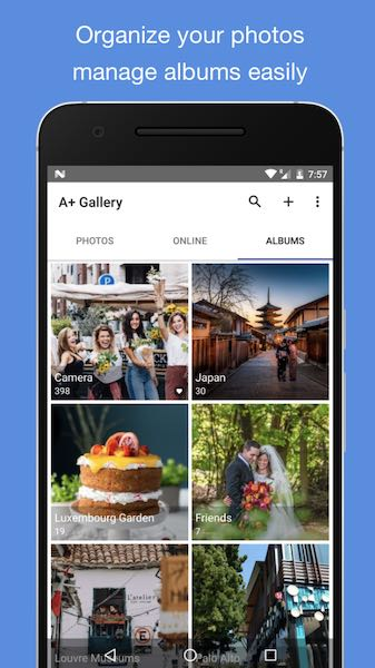 A + Gallery Photos : application galerie photo Android populaire